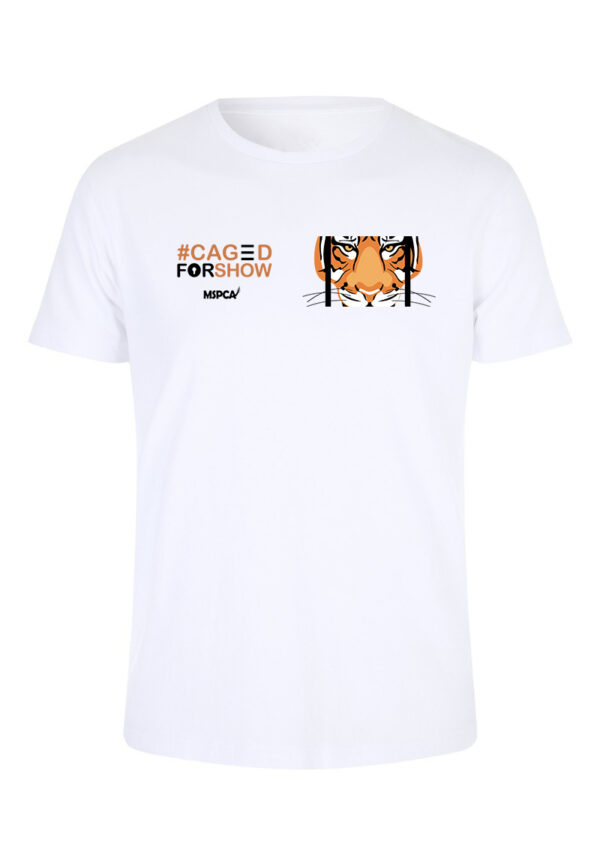 caged for show t-shirt tiger